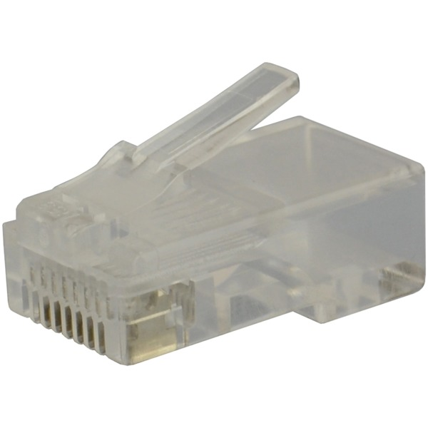 datacomm electronics cat-5e rj45 molded plugs, 100 pack