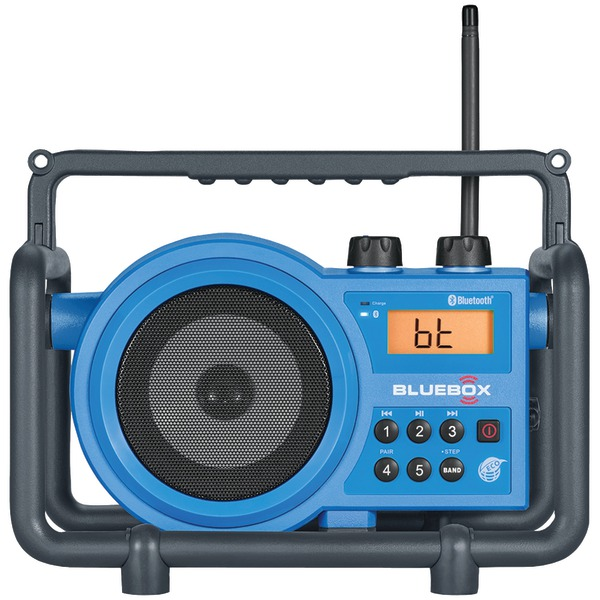 sangean bluebox am and fm ultra-rugged digital receiver with bluetooth