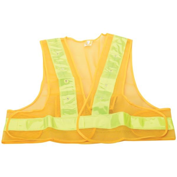 maxsa innovations reflective safety vest with 16 leds (medium)