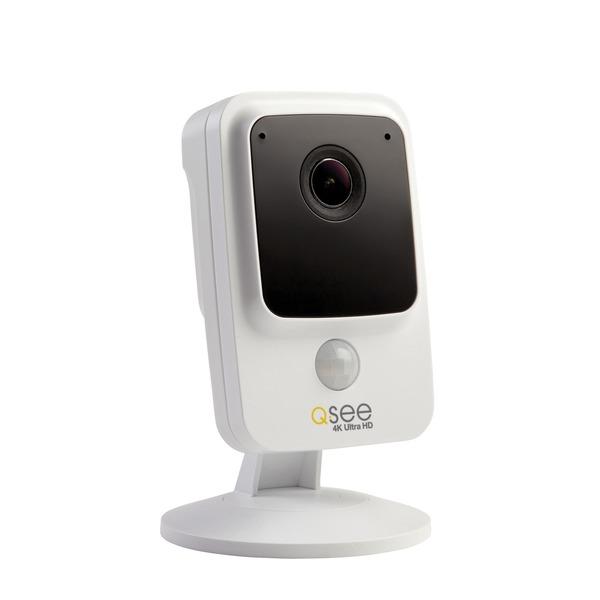 q-see 4k uhd smart home wi-fi cube camera (white)