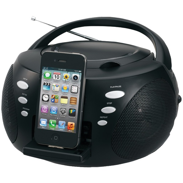 jensen iphone and ipod portable docking digital cd music system