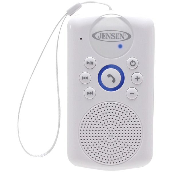 jensen smps-640 water-resistant bluetooth hands-free shower speaker