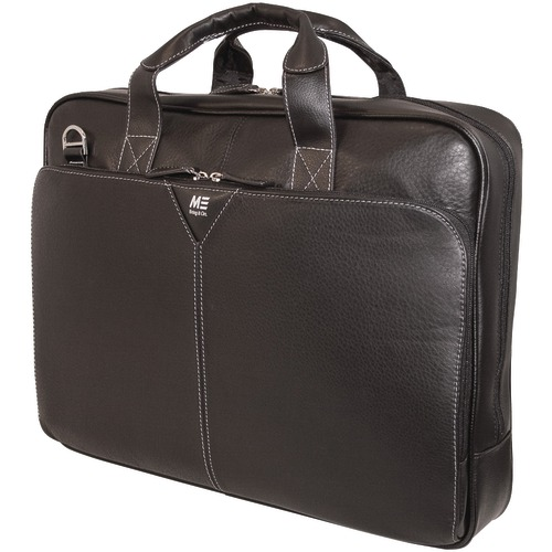 """mobile edge 16"""" deluxe leather notebook briefcase"""